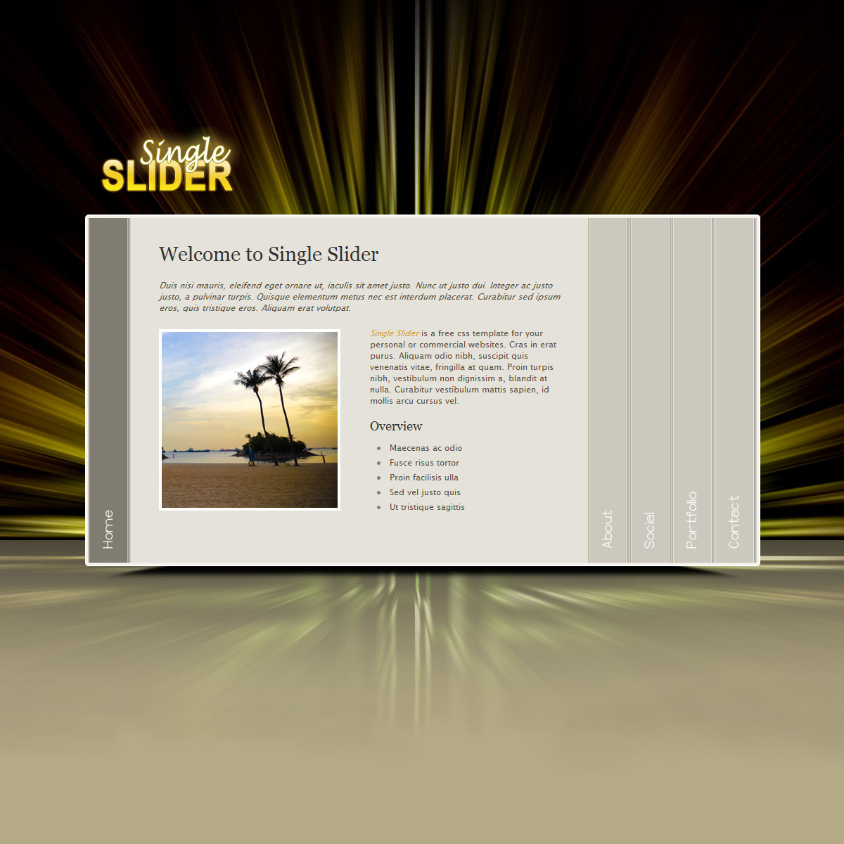 Single Slider