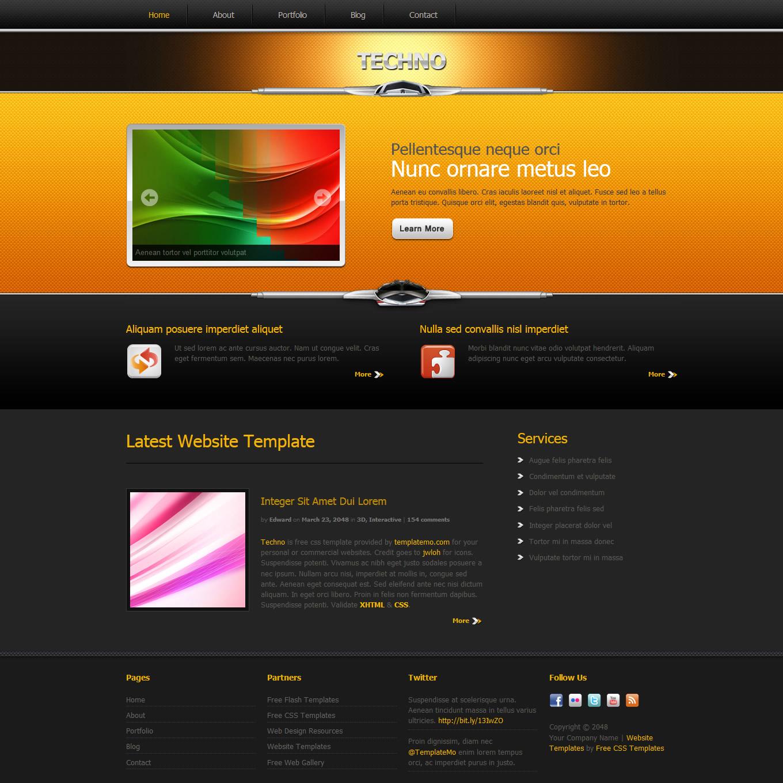 Techno Free CSS Templates