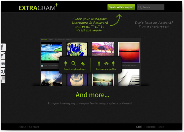 Extragram- Introduction, Interface and Navigation