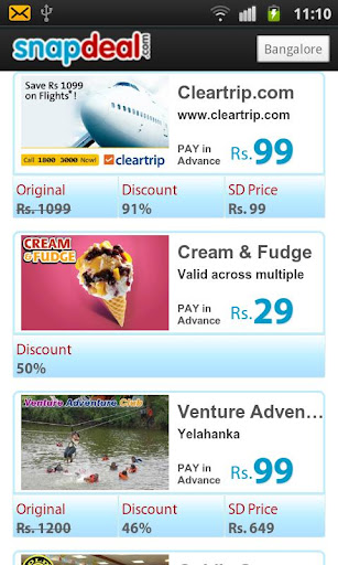 Snapdeal android app