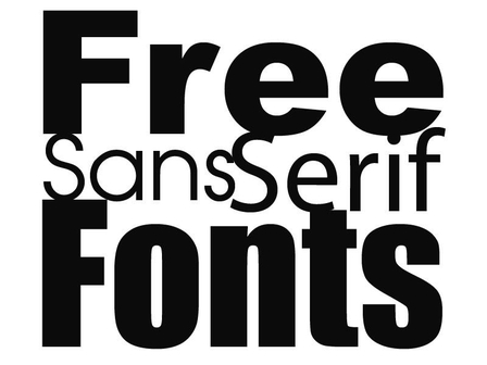 3 Free High Quality Sans Serif Fonts