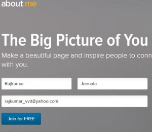 How to Create Social Profile Link in about.me