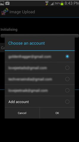 Choose the Google Account