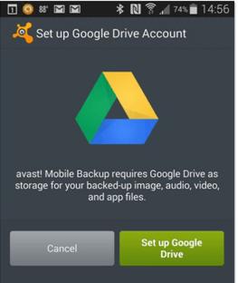 Mobile Backup Google Drive