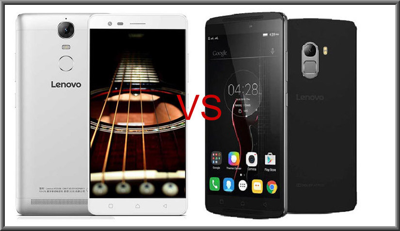 Comparison of Lenovo K5 Note and K4 Note