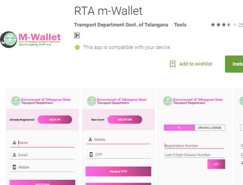 Telangana State RTA m-Wallet