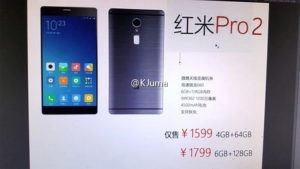 Xiaomi Redmi Pro 2 Full Specifications Leaked