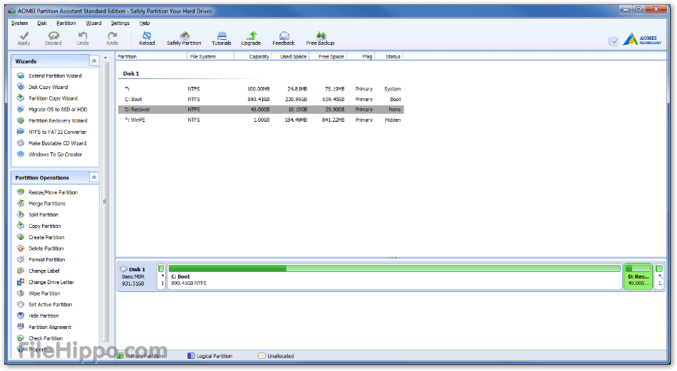 AOMEI Partition Assistant 6.5 Review