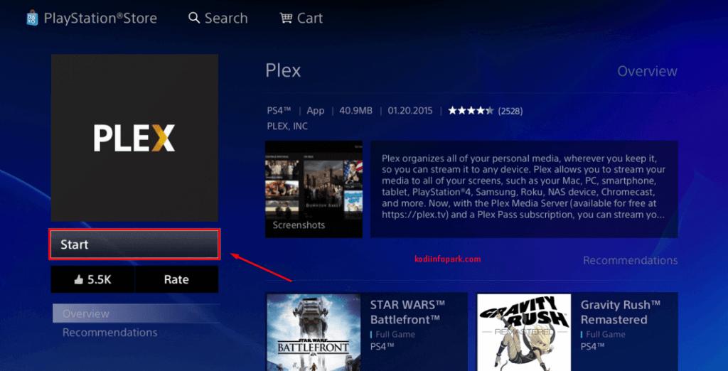 Kodi on PS4