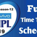 [SCHEDULE] IPL Schedule 2019 For 1st Two Weeks