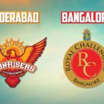 Sunrisers Hyderabad vs Royal Challengers Bangalore – Sunday 4 PM Match