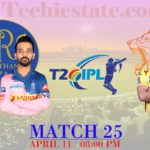 RR Vs CSK 25th Match Prediction, Playing XI Updates, Live Cricket Score