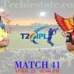 CSK Vs SRH Match Prediction, Live Streaming Cricket Updates