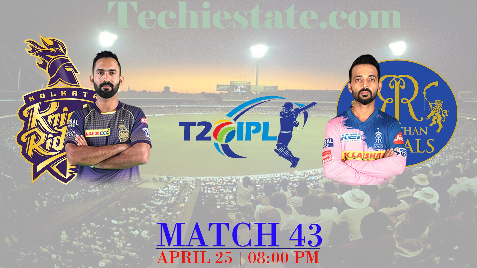 KKR Vs RR 43rd Match Prediction, Live Streaming Score Updates