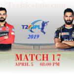 RCB Vs KKR 17th Match Prediction, Live Updates, Cricket Scores