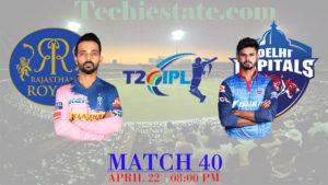 Rajasthan Royals Vs Delhi Capitals Match Prediction, Live Streaming Updates