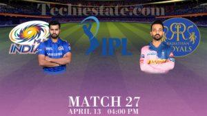 Mumbai Indians Vs Rajasthan Royals Match Prediction, Live Cricket Scores