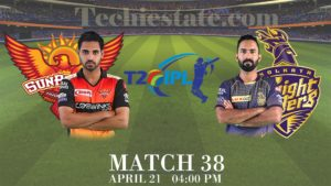 Sunrisers Hyderabad vs Kolkata Knight Riders 38th Match Prediction, Live Cricket Updates