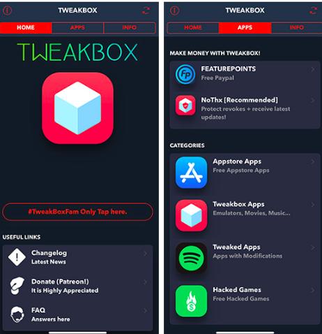 TweakBox Apps Store on iOS