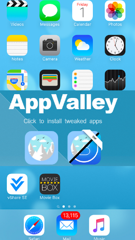 AppValley Third Party Apps Store on iOS