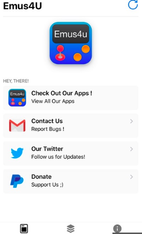 Emus4u App User interface