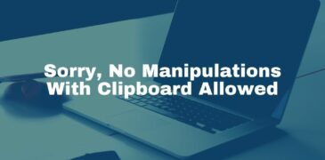 """Fix the Error """"Sorry, No Manipulations With Clipboard Allowed"""""""